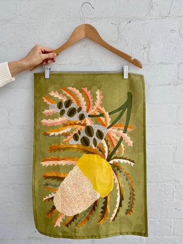 Banksia Bloom Tea Towel