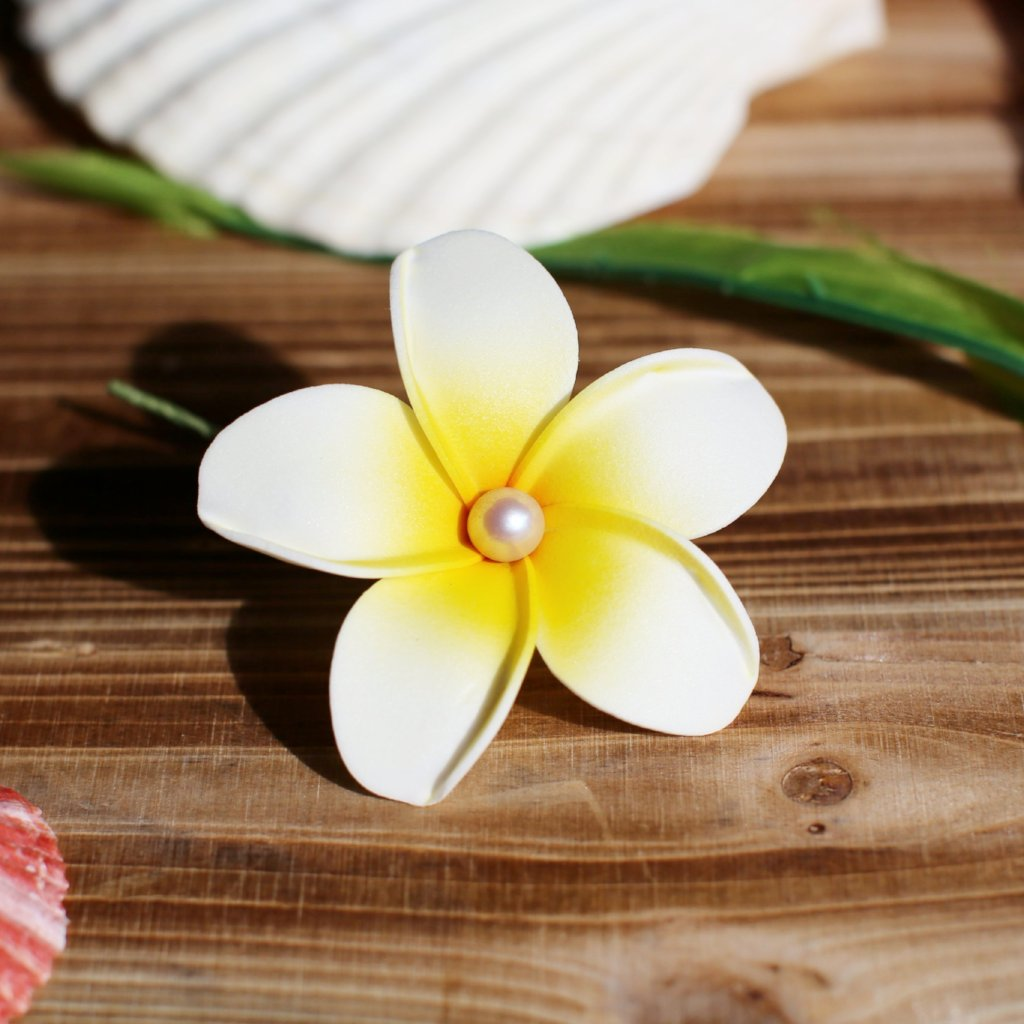 Foam Plumeria - Stemmed Hair Accessory - #1001