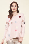 Darla Dots pullover sweater - front