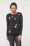 Darla Dots pullover sweater - grey front