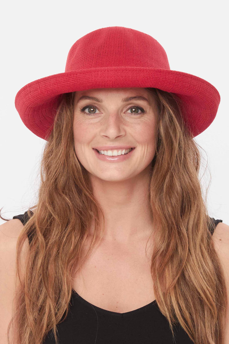 Biscayne Bowler Hat - red