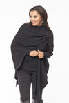 Emma merino wool one size wrap - black