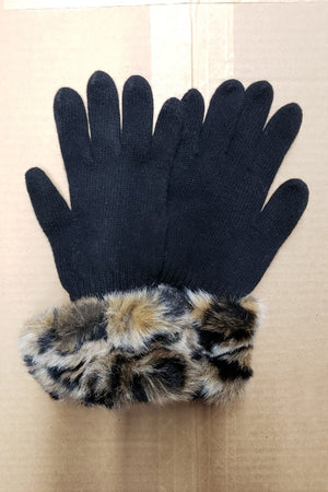 Madison Faux Fur Cuff Glove - Parkhurst Knitwear