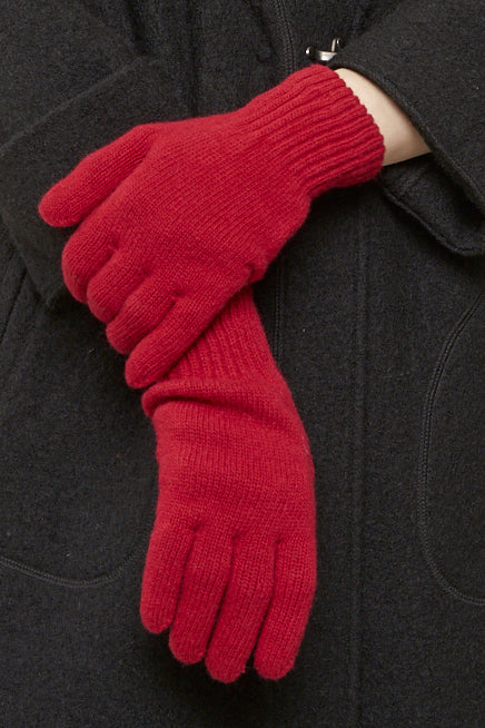 Classic Merino Wool Gloves - unisex - red