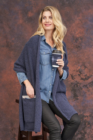Readers Wrap with Pockets - Parkhurst Knitwear
