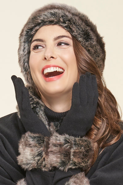 Madison Faux Fur Glove - Parkhurst Knitwear