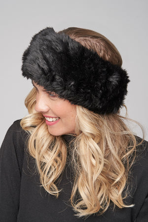 Haley Faux Fur Headband - Parkhurst Knitwear