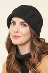 Charlie wool cloche bow hat - front
