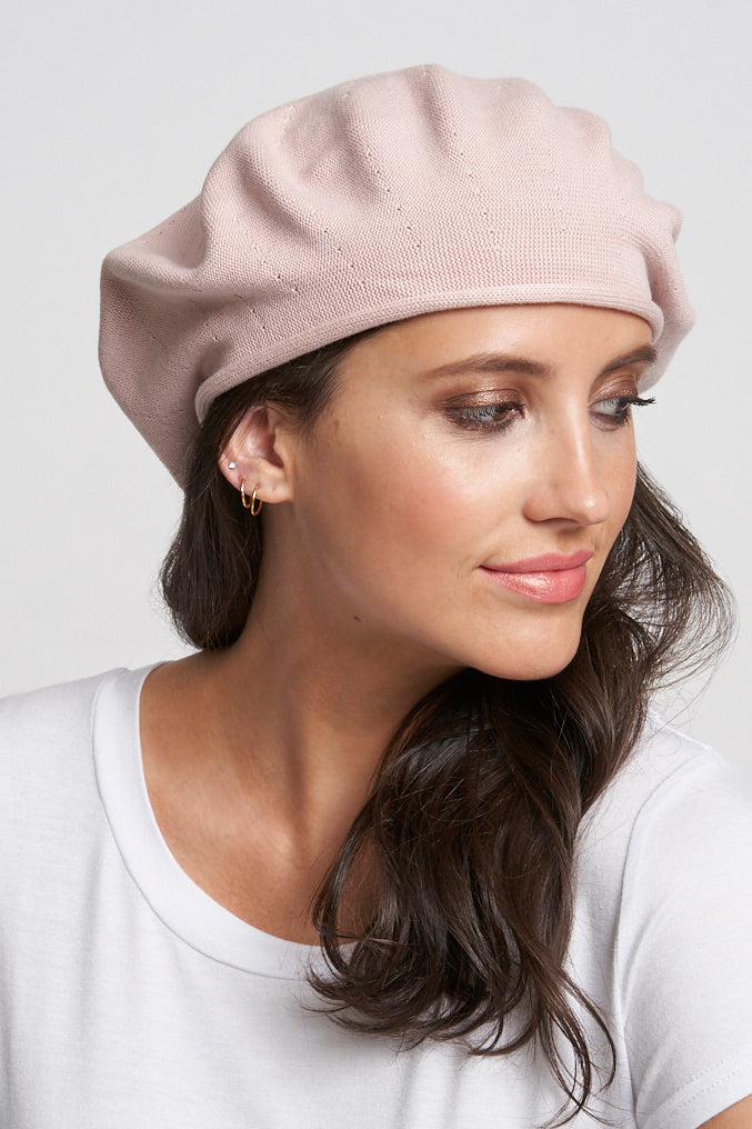 Cotton Artist Beret - pink pearl