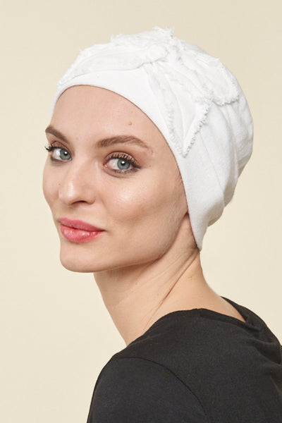 Cotton Butterfly Beanie Head Cover - Parkhurst Knitwear