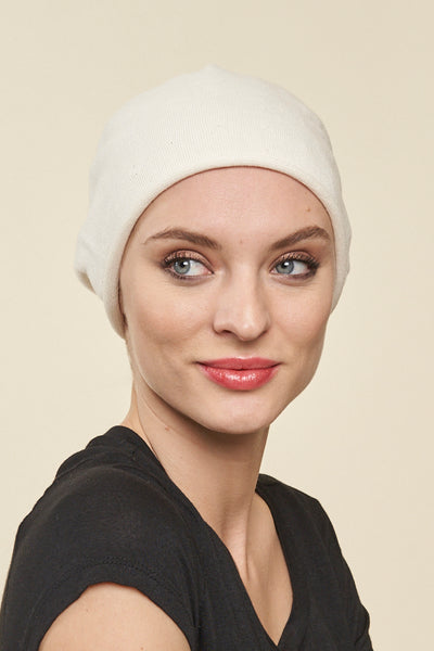 Convertible Cotton Slouchy Head Cover - Parkhurst Knitwear