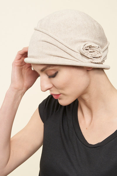 Cotton Shelley Cloche Pull On Head Cover - Parkhurst Knitwear