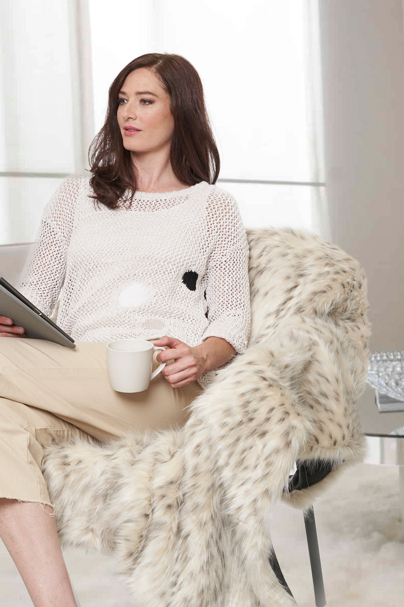 Faux Fur Luxury Blanket - Parkhurst Knitwear