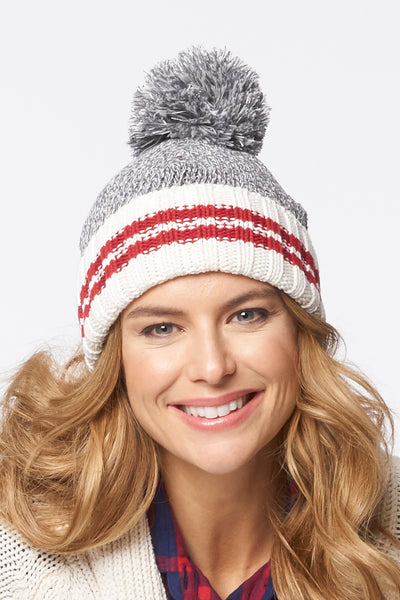 Eco Cotton Canadiana Stripe Toque - Parkhurst Knitwear