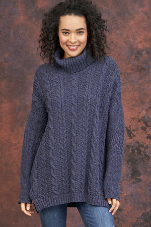 Emily Comfy Turtle Neck Sweater - Parkhurst Knitwear