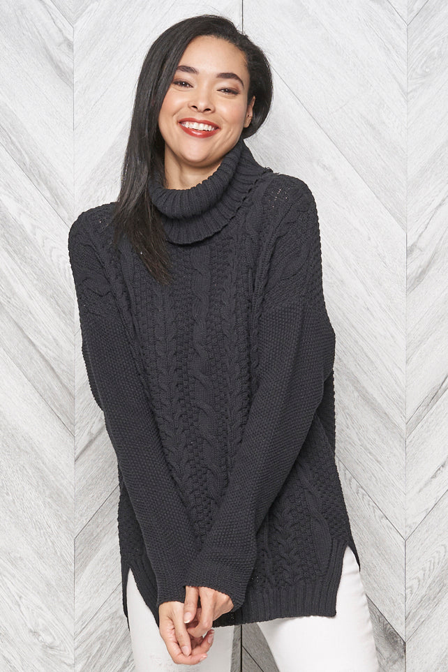 Emily Eco Cotton Turtleneck - Parkhurst Knitwear