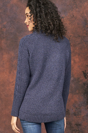 Bailey Cowl Neck High Low Pullover - Parkhurst Knitwear