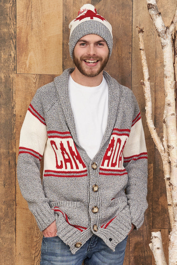 Canadiana Eco Cotton Cardigan for Men - Parkhurst Knitwear