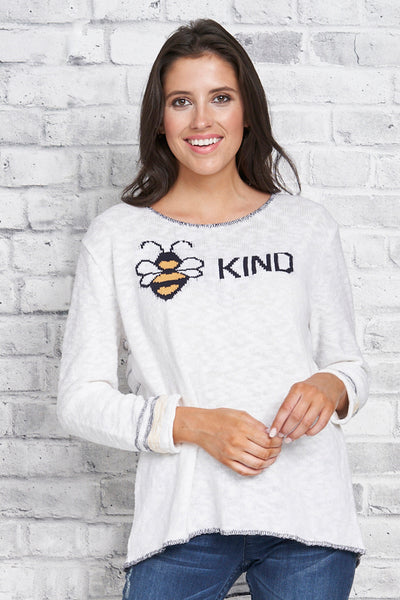 Bee Kind Pullover - 100% Cotton - Parkhurst Knitwear
