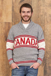 Canadiana eco cotton shawl collar pullover sweater for men  - front