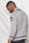 "Canadiana eco cotton ""Curling"" pullover sweater for men  - back"