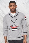 "Canadiana eco cotton ""Curling"" pullover sweater for men  - front"