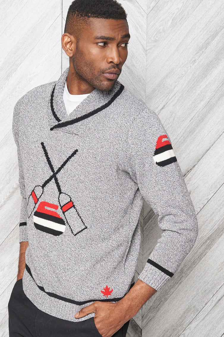Mens Curling Sweater - Parkhurst Knitwear