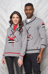 "Canadiana eco cotton ""Curling"" pullover sweater for men and women"