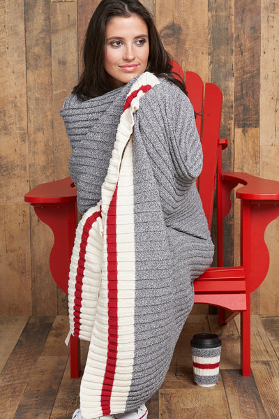 Canadiana Eco Cotton Throw Blanket - Parkhurst Knitwear