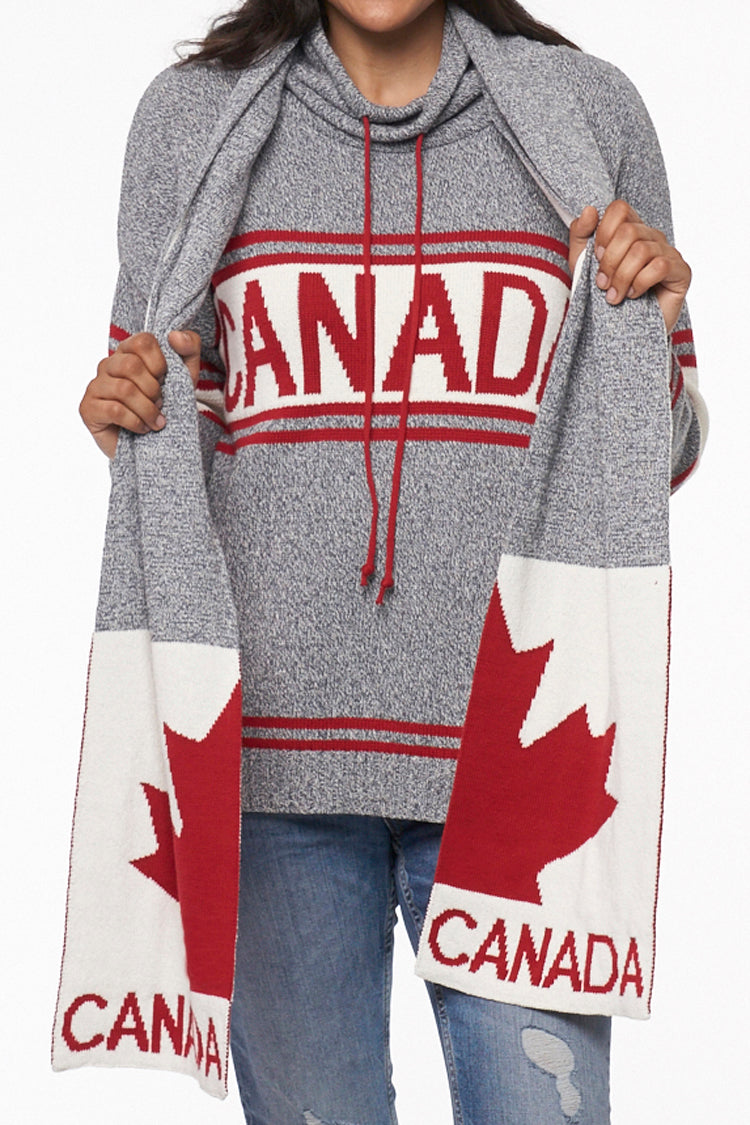 Canadiana eco cotton scarf