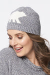 Canadiana eco cotton Laurentian bear beanie/toque - side