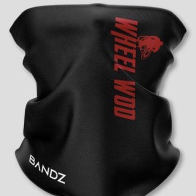 Wheelwod face-shield with red logo