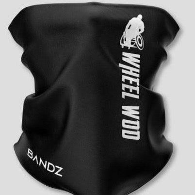 Wheelwod face-shield with white logo