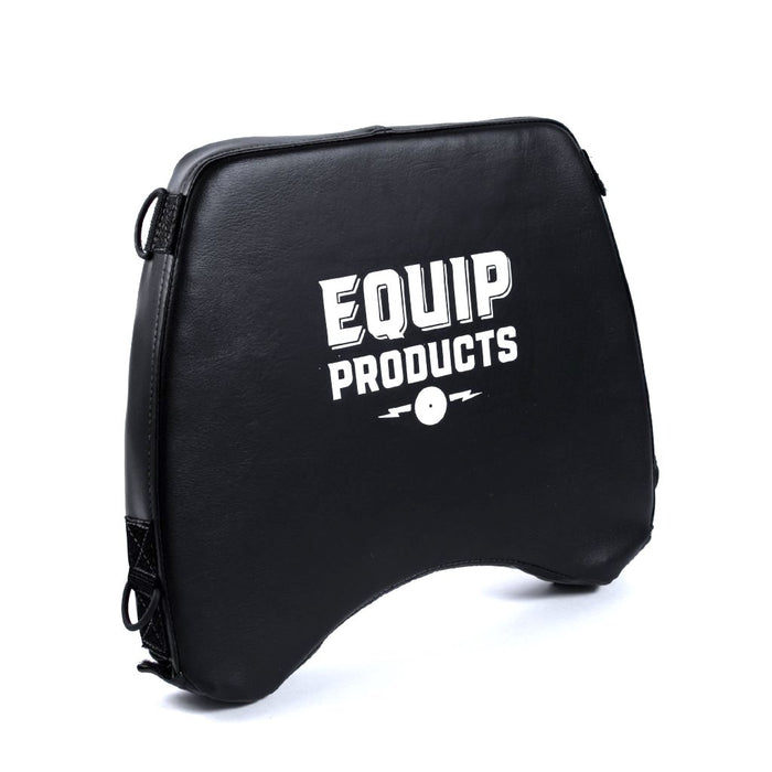 Large LapMat™ With Equip Logo Standing Upright Slightly Turned