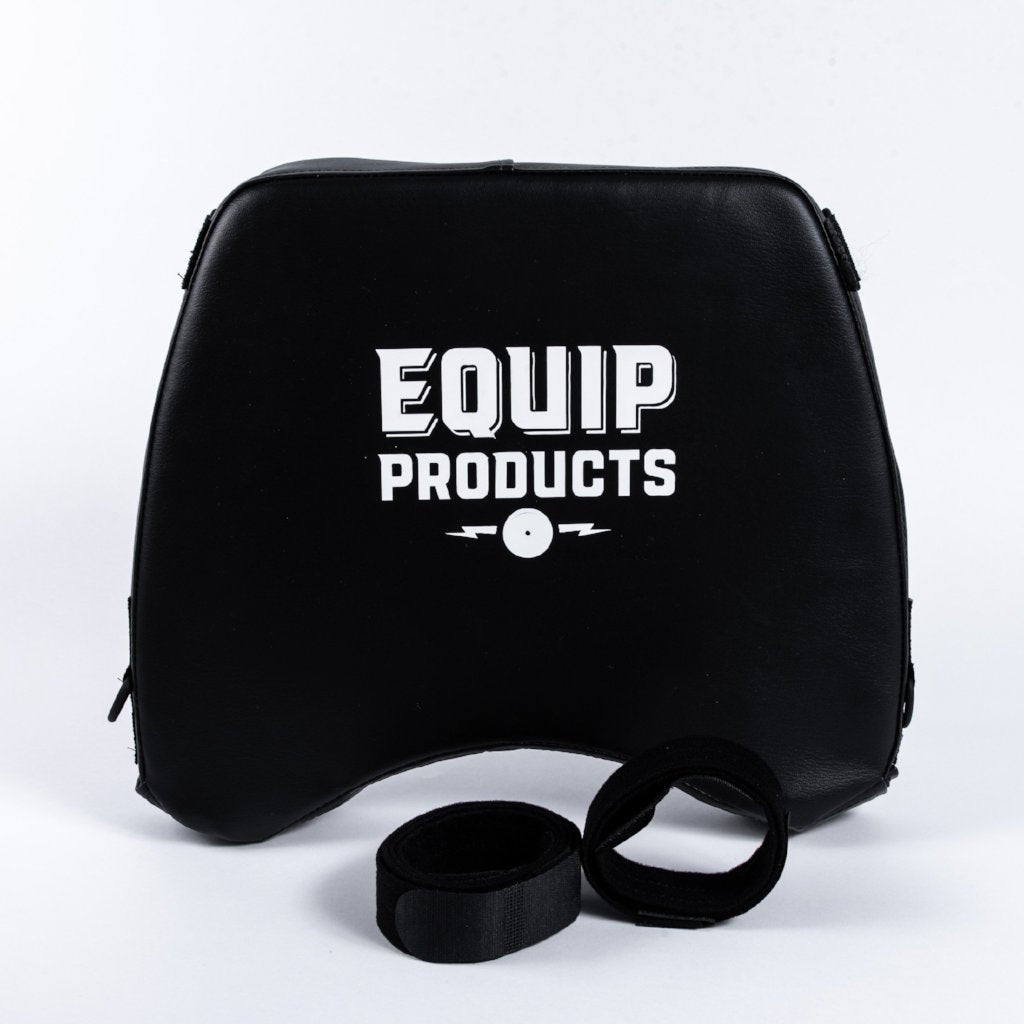 Large LapMat™ With Equip Logo Standing Upright With Straps