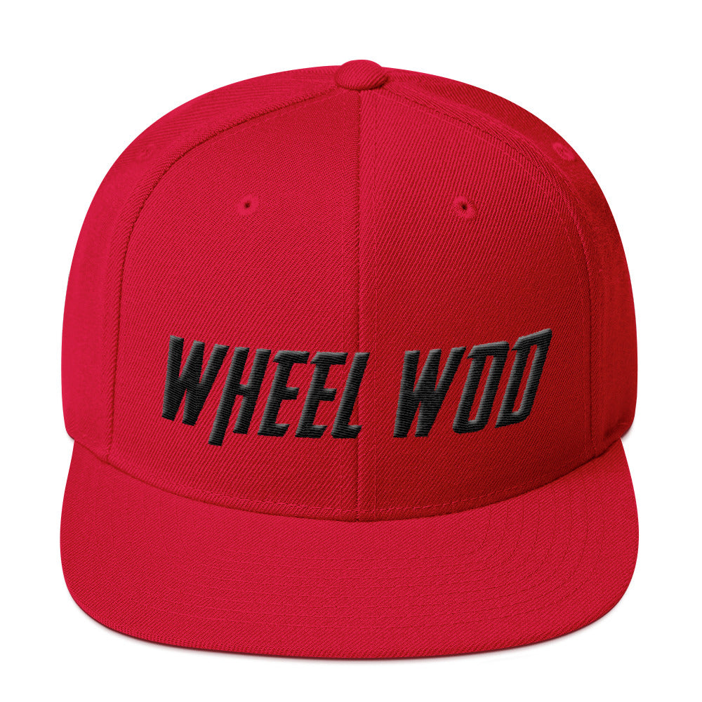 "WheelWod™ Snapback Hat ""Flat Bill"""