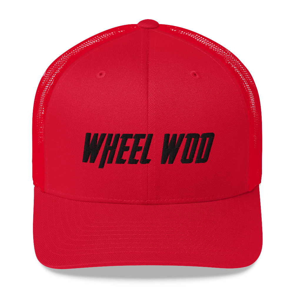 WheelWod Trucker Hat  Red with Black Embroidery