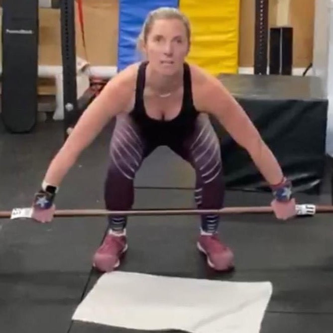 Kym Dekeyrel -  Visually Impaired Athlete using the Equip Barbell Markers for visually impaired athletes.