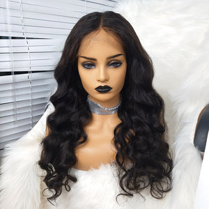 COLODO Body Wave Human Hair Lace Wigs Nature Colour For Black Women