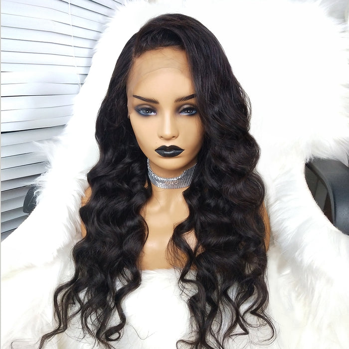 COLODO 100% Virgin Human Hair Partial Wig 13X6 Body Wave Lace Wigs Nature Color for Women