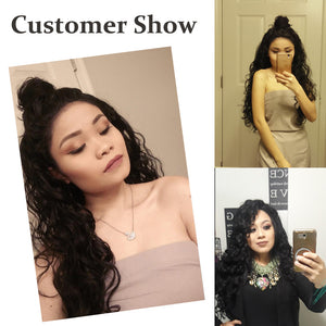 There are  photos of some customer.