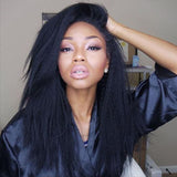 13*4 Virgin Brazilian Human Hair Lace Front Wigs Kinky Straight Affordable Hair [BLW06]