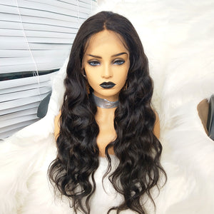 4550660dd32 COLODO 13X6 Lace Front Wigs 100%Virgin Human Hair Body Wave Nature Color  Wigs for Women