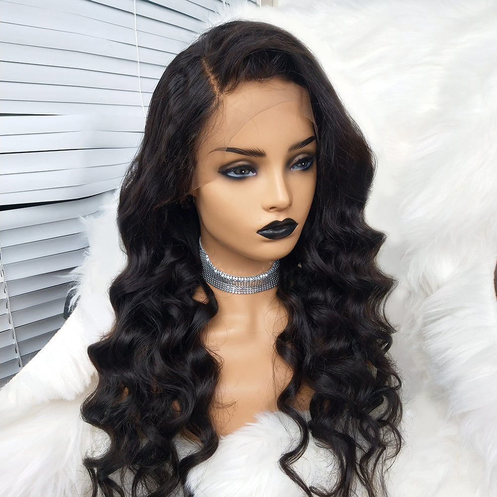 68ce90fb665 COLODO 100% Virgin Human Hair Partial Wig 13X6 Body Wave Lace Wigs Nature  Color for Women