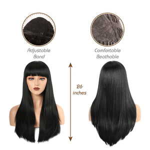 The hair set of this wig is comfortable and adjustable .