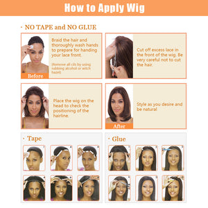This shows that how to apply wigs.