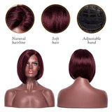 This is the front and back of this wig.(different color)