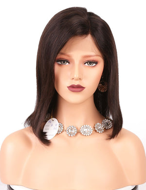 This is a 100% Brazilian Remy Human Hair Wigs Short Bob 13*4 Lace Front wigs.