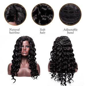 This picture shows some wigs details-hair quolity, adjustable band