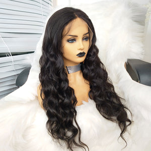 COLODO 13X6 Lace Front Wigs 100%Virgin Human Hair Body Wave Nature Color Wigs for Women